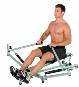 Workout mit dem Rudergerät